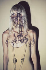 lungs (schaharazad) Tags: portrait color hospital skeleton blood model medical blonde medicine artery