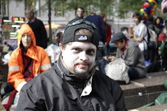 Zombie man at Occupy Wall Street