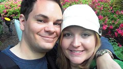 Jon and Heidi at the Butchart Gardens