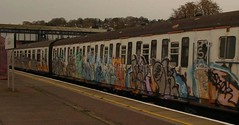 oker dels etc (LondonzGraveyard) Tags: train graffiti oker dels