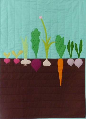 Vegetable mini quilt