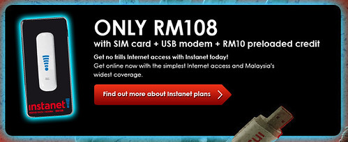 Instanet Prepaid Pack + Modem for only RM108