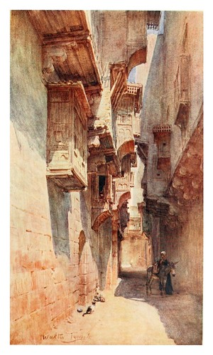 024-Una callejuela en el barrio Tulun del Cairo-Below the cataracts (1907)- Walter Tyndale