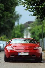 SLS AMG (Vogelbetrachter) Tags: auto mercedes benz sls amg auspuff rennwagen flgeltren slsamg
