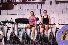 TWU Gymnastics Practice [Kristie & Mollie] (Erin Costa) Tags: costa turn dance university texas tx molly blessing gymnast flip gymnastics mollie practice tumble kristie denton twu womans