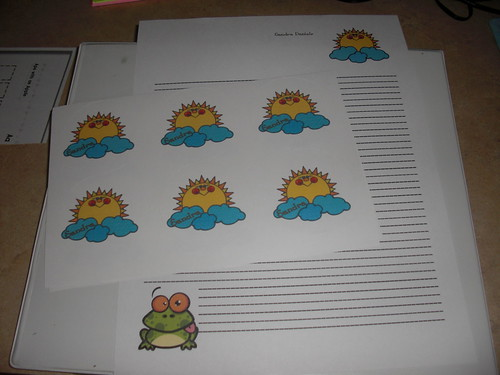 Sun and Froggy Summer Stationery