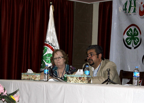 Mary Kerstetter (left), sits next to an Iraqi government official, Salam Singer, at the country's first National 4-H Conference held in Baghdad in May. Kerstetter recently returned to the United States after more than two years as an agricultural advisor for USDA's Foreign Agricultural Service (FAS) in Iraq, where she was instrumental in establishing 4-H clubs across the country. Photo courtesy of Mary Kerstetter.