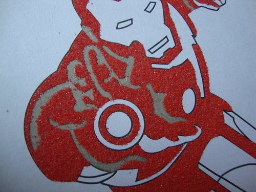 Iron Man Sand Art