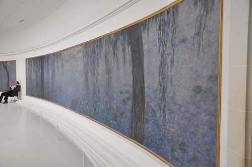 Clear Morning with Willows by Monet