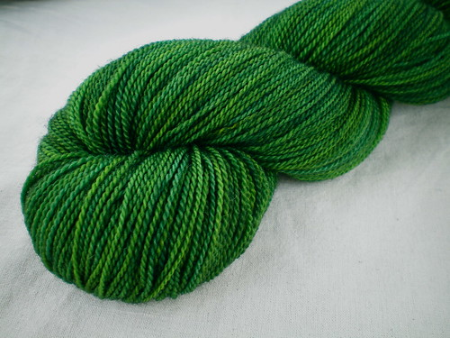 Overdyed Hand-dyed Yarns: Grass Is Greener