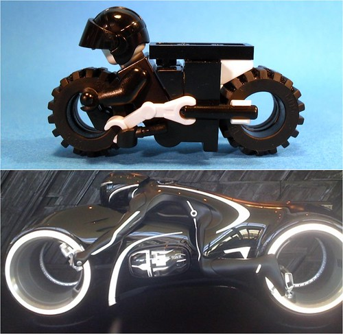 Purist Lego Lightcycle - Comparison