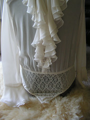 Laundry by Shelli Segal Ivory Silk Double Ruffle Jabot Blouse Close Up Lower Front (mondas66) Tags: ruffles lace victorian ascot blouse poet romantic elegant ornate lacy dainty prim frilly elegance pleated jabot pleats ruffle demure blouses frills frill ruffled flouncy flounce lacework frilled pleat laundrybyshellisegal flounces frilling frillings befrilled