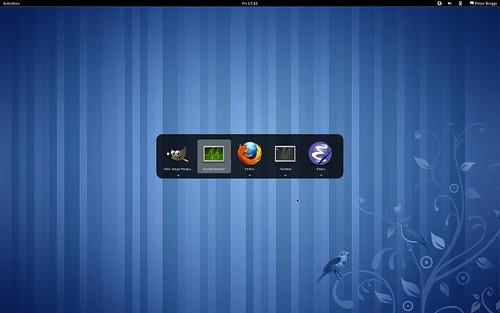 Fedora 15: Alt-Tab cycle through applications