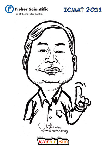 Caricature for Fisher Scientific - Wanxin Sun