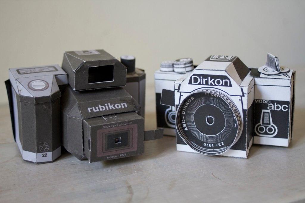 Paper Pinhole Cameras