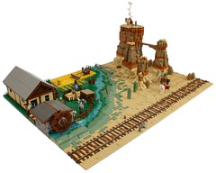 Western Countyside (Matija Grguric) Tags: countryside cowboy lego indian creation western wildwest diorama moc matijagrguric