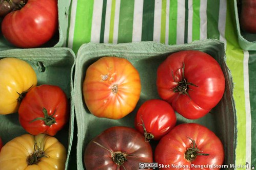 Heirloom Tomatoes at the Trout Lake Farmer's Market