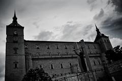 Alczar of Toledo (Umbreen Hafeez) Tags: sky urban white black architecture clouds landscape spain toledo buiding alczar thisphotorocks
