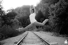 Andee Aimee_0259a (dh Images Photography) Tags: railroad summer woman hot cute sexy girl train amazing model gorgeous tracks dancer jeans lovely provocanyon dhimages