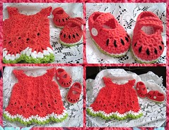 Free Crochet Watermelon Dress Pattern : The Worlds Best Photos of watermelon and wildaboutcolor ...
