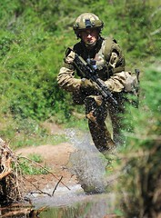 Soldier from 4 RIFLES on Exercise in Kenya (Defence Images) Tags: uk man male ex training river soldier army stream exercise kenya military running british defense defence personnel gbr batuk identifiable archerspost 4rifles 43wessexbrigade 4thbattaliontherifles4rifles britisharmytrainingunitkenyabatuk