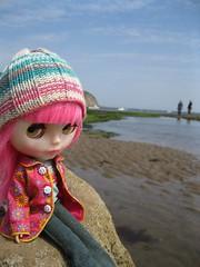Tiptoes on the beach