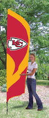 Kansas City Chiefs Tall Feather Flag