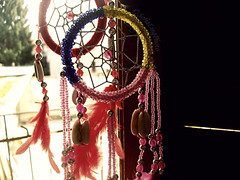 Dual function Dreamcatcher! (Sophie Ling) Tags: light colours dream colori luce perle sogni accessori oggetto