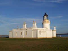 Chanonry Point Lighthouse, Fortrose, February 2011 (allanmaciver) Tags: blue light lighthouse white point stevenson guards chanonry nlb top20lh lighthousetrek allanmaciver