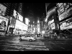 The car (Kaj Bjurman) Tags: new york bw usa white ny black car dark square eos manhattan 5d times kaj markii bjurman