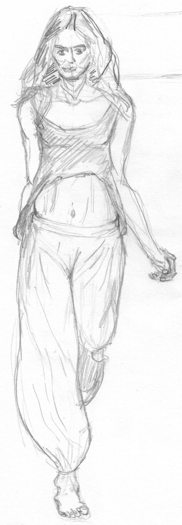 Clothed figure sketch 39 - 2011/07/18