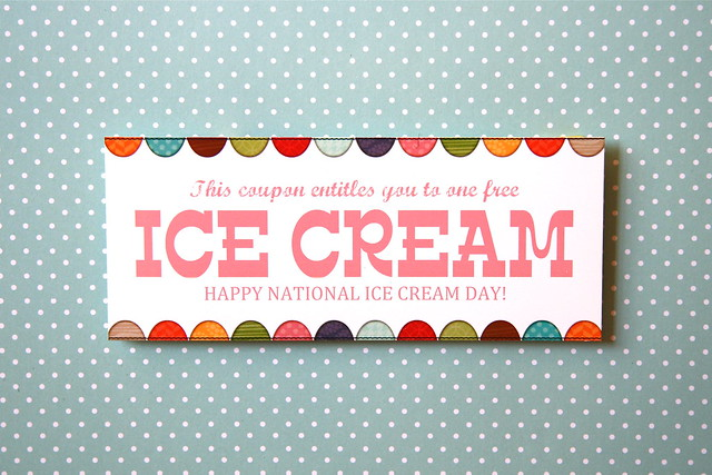 Ice Cream FREE printable coupon