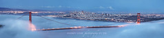 Golden Gate Bridge: Icon in Blue (Andrew Louie Photography) Tags: sf california bridge blue autumn light sunset fall fog landscape golden bay gate san francisco glow moody cityscape sfo hawk anniversary magic marin hill dream jazz icon panoramic celebration explore hour area 75th