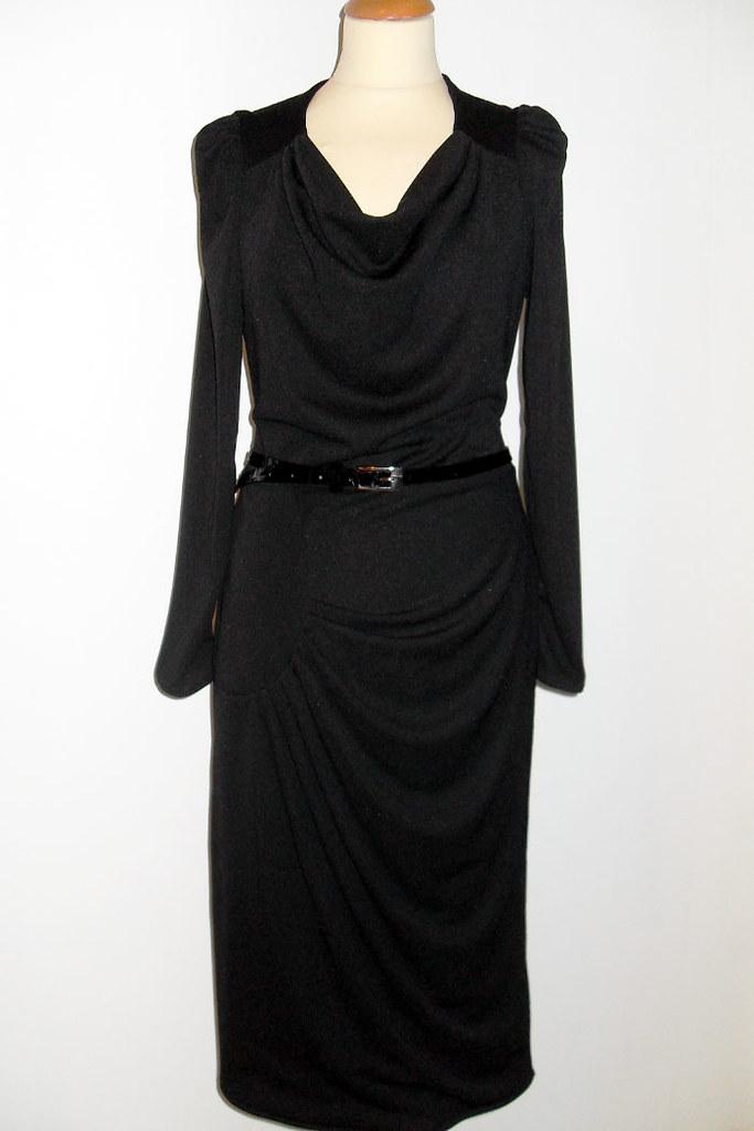 Black Wardrobe: 1940s style draped dress