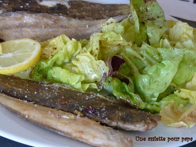 céteaux et salade huile de noisette
