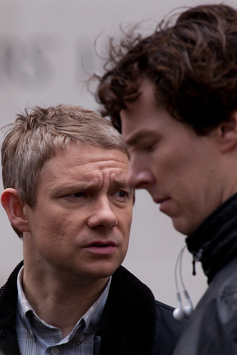 524/1000 - Filming of Sherlock - The Duo! by Mark Carline