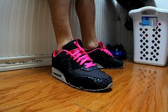 WDYWT 7-17-11 (Never Wear Them) Tags: pink black max west grey am tech air id nike 90 1990 nikeid kanye yeezy
