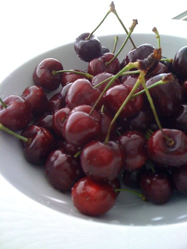 Finally, BC Okanagan cherries! The record-breakingly cold weather delayed all summer fruits this year. Going to eat as much as possible while they last.