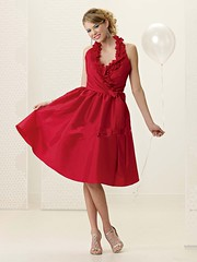 Taffeta Sexy Deep V neck with Halter ini Short A line Skirt Wholesale Red Bridesmaid Dress (bridesmaiddresssaleca) Tags: red sexy neck long with dress deep fuchsia ini skirt line v dresses short bridesmaid taffeta cheap halter wholesale 2011 a