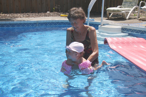 Swimming with Grandma