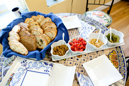 The savory spread with their wonderful breads