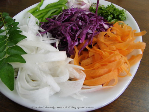 Red Cabbage, Radish & Carrot salad 4