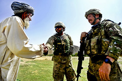 Meet and greet (The U.S. Army) Tags: afghanistan river army village airforce elders patrol zabulprovince arghandab foblane prtzabul