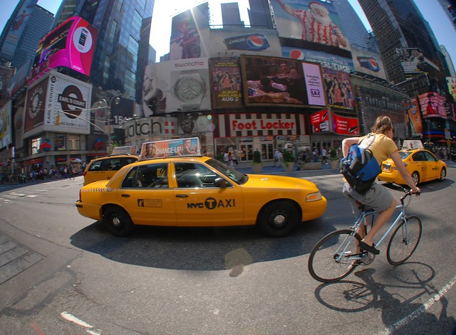 Street Scene on Times Square
