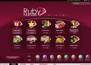 Ruby Fortune Casino Lobby