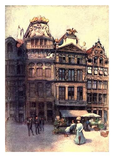 003-Bruselas-antiguas casas en la Gran Plaza-Belgium 1908- Amédée Forestier