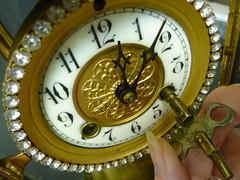 Winding the Clock (Oh Kaye) Tags: macro clock french key hand wind odc1 sooc