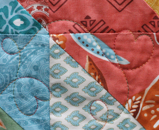 Quilting detail: Front