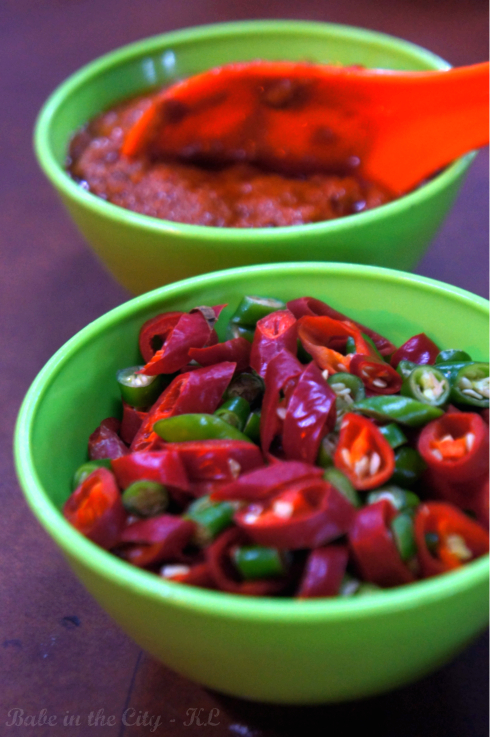 Sambal & fresh chillies