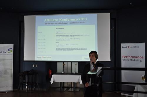 Martin Dorst eröffnet die Affiliate Konferenz